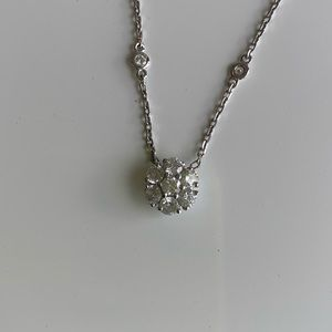 Jewelry - Diamond by the yard with Diamond Cluster Pendant